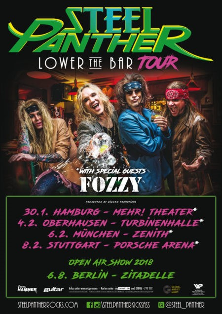 STEEL PANTHER Lower The Bar Tour 2018