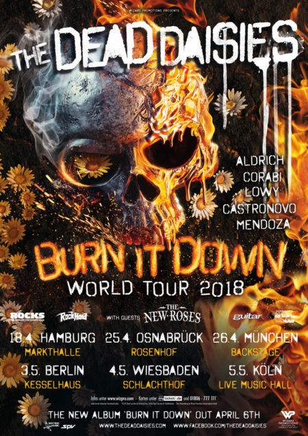 THE DEAD DAISIES Burn It Down World Tour 2018
