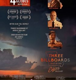 7 Oscar®-Nominierungen für  THREE BILLBOARDS OUTSIDE EBBING, MISSOURI