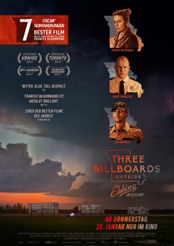Zwei Oscars® für THREE BILLBOARDS OUTSIDE EBBING, MISSOURI