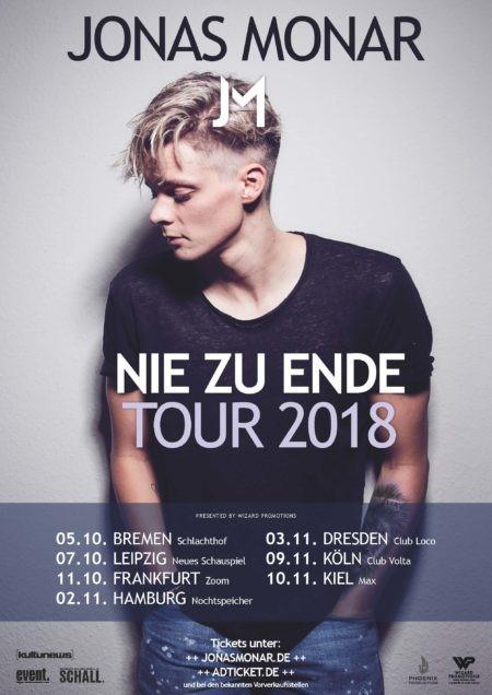 Jonas Monar – Nie zu Ende – Tour 2018
