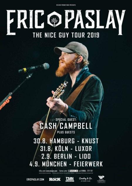 Eric Paslay  – The Nice Guy Tour 2019